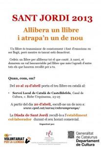 Cartell Sant Jordi  Castelldefels 2013 - bo