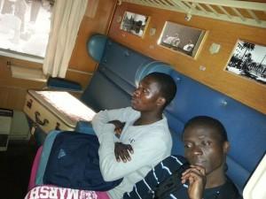 el sevillano dins el tren