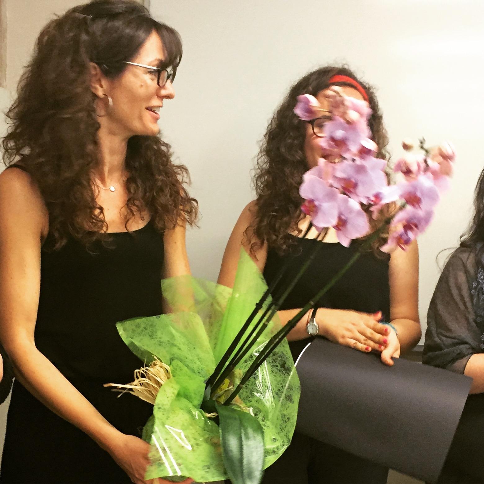 Cristina amb flors