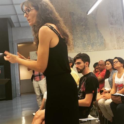 Cristina amb públic