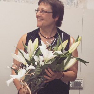 Reina amb flors