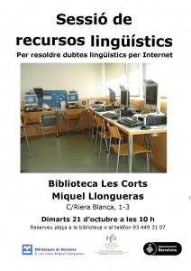 CARTELL sessió llongueras recursos linguistics