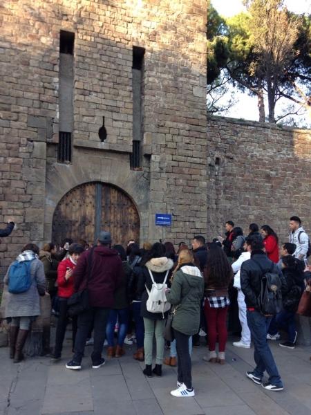 Visita al baluard Sta. Madrona i Drassanes