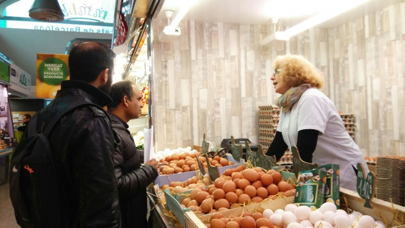 Els alumnes visiten el mercat