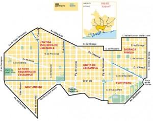 Eixample mapa
