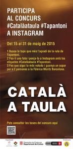 Cartell català a taula