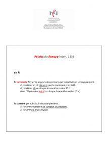 Pessics de llengua (133) 18 març 2016