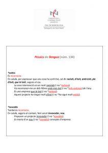 Pessics de llengua (134) 1 abril 2016
