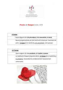 Pessics de llengua (137) 22 abril 2016
