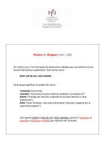Pessics de llengua (138) 29 abril 2016