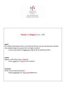Pessics de llengua (140) 13 maig 2016