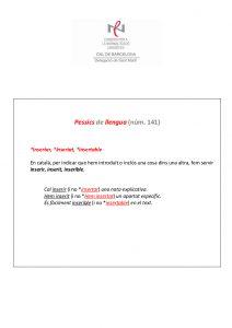 Pessics de llengua (141) 20 maig 2016