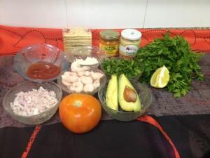 Primers i segons plats · Còctel de gambes · Sara Palacio i Bilbao_ingredients