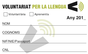 Resultat d'imatges de carnet voluntariat per la llengua